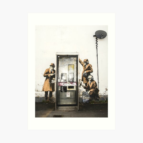Banksy Spy Booth Art Print