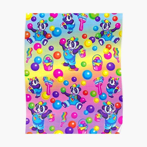 Lisa Frank panda pattern  Poster