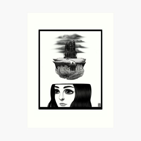 Haunted State of Mind Art Print