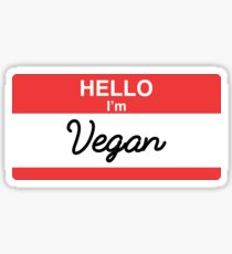 Hello I'm Vegan Sticker