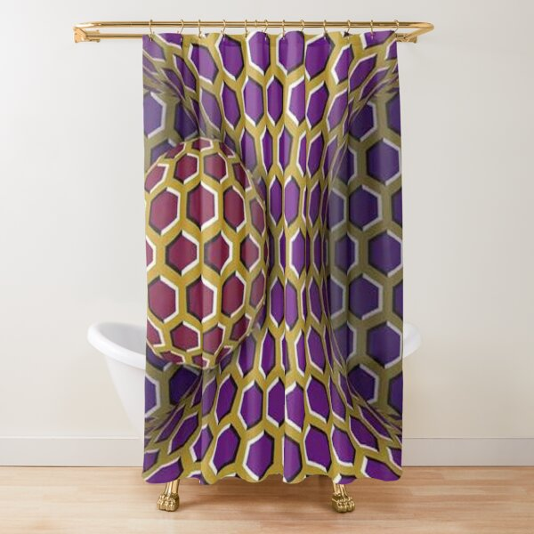 Motion Illusion Shower Curtain