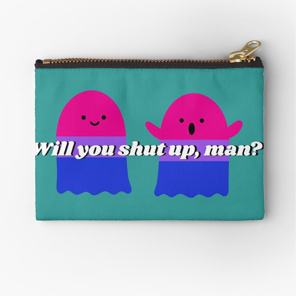 Will you shut up Halloween version design Zipper Pouch