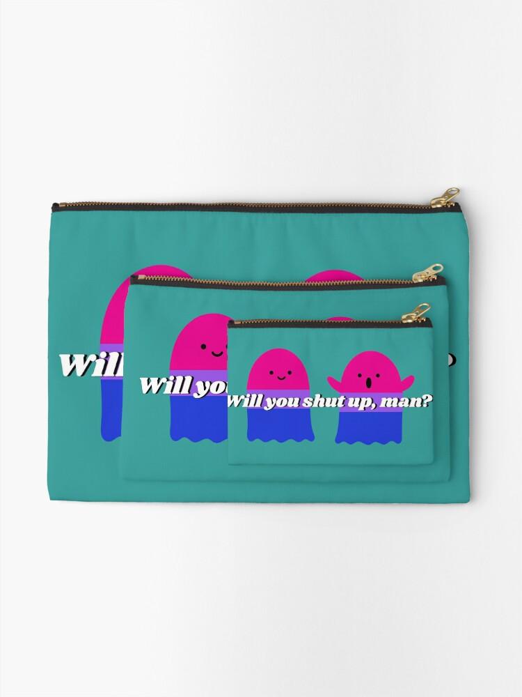 Alternate view of Will you shut up Halloween version design Zipper Pouch