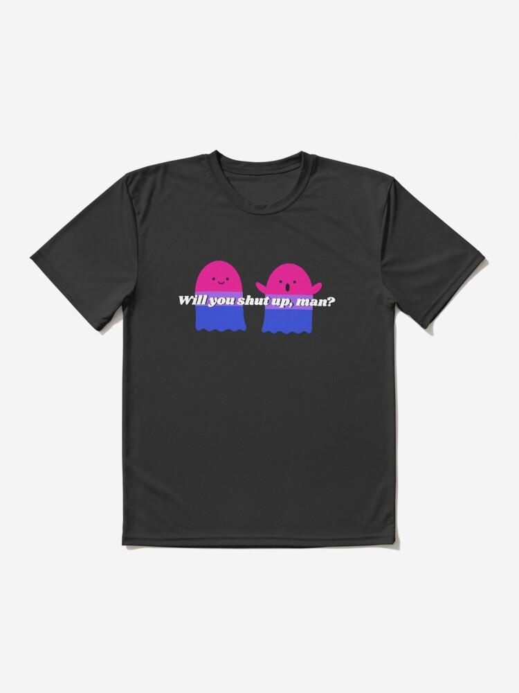 Alternate view of Will you shut up Halloween version design Active T-Shirt