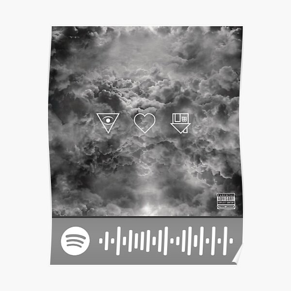 The Neighbourhood Sweater Weather Spotify scan tag Poster