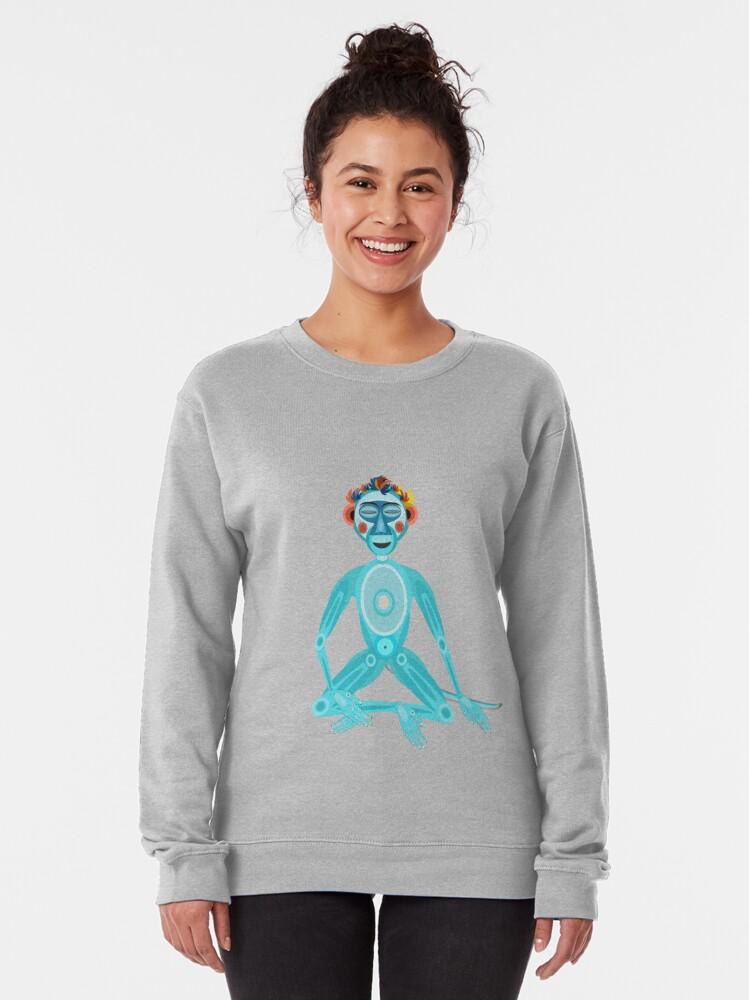 Alternate view of MOONKEY the Monkey - MEDITATION - BREATH Pullover Sweatshirt