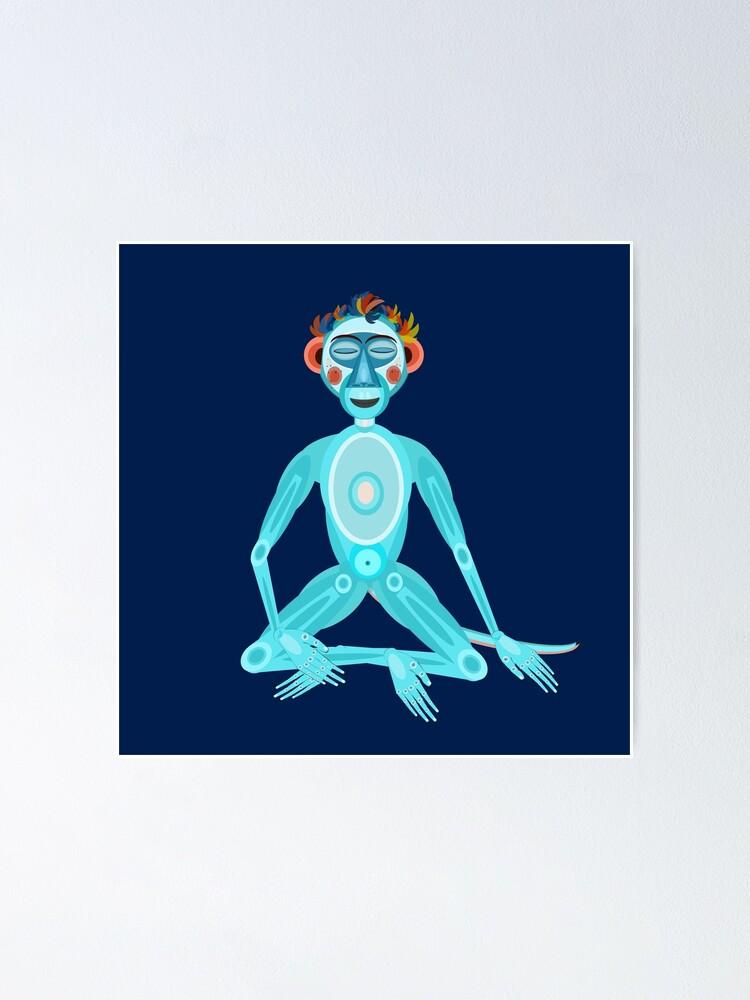 Alternate view of MOONKEY the Monkey - MEDITATION - BREATH Poster
