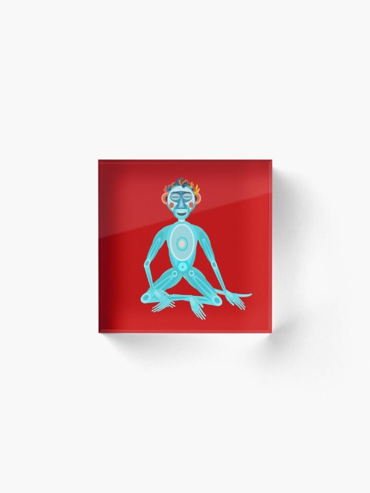 Alternate view of MOONKEY the Monkey - MEDITATION - BREATH Acrylic Block
