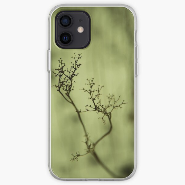 Shadow of plant, condolence card green background iPhone Soft Case