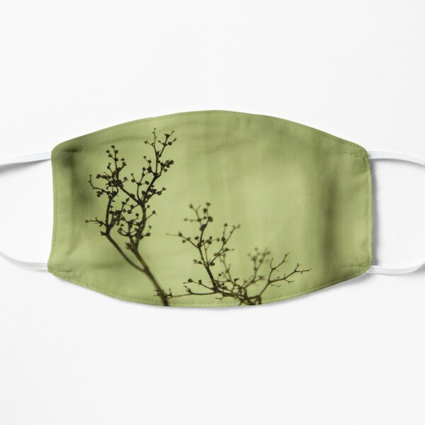 Shadow of plant, condolence card green background Flat Mask
