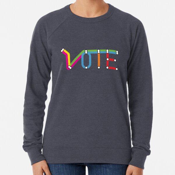 VOTE transit map Lightweight Sweatshirt