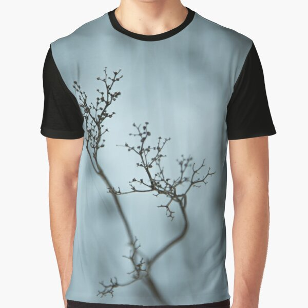 Shadow of plant, condolence card blue background Graphic T-Shirt