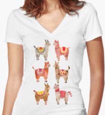 Alpacas Women's Fitted V-Neck T-Shirt