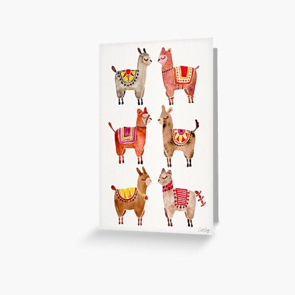 Alpacas Greeting Card