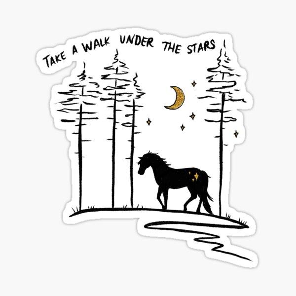 Take a Walk Under the Stars Sticker