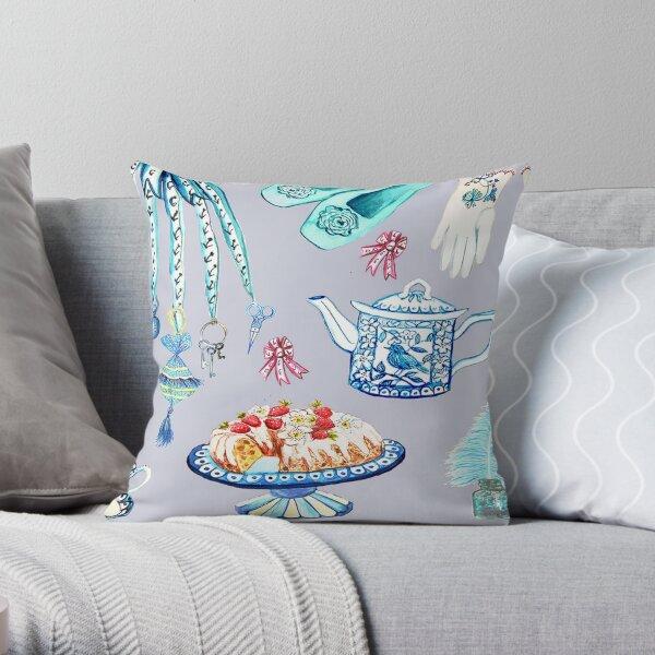 Jane Austen's favorite things Throw Pillow