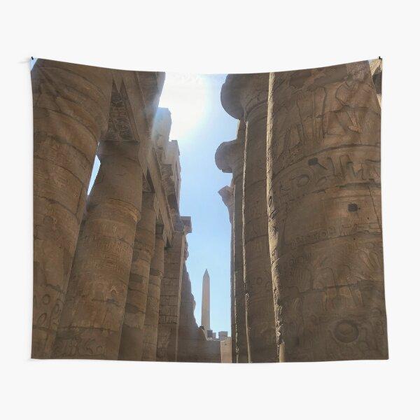 Columns and Obelisk at Karnak Tapestry