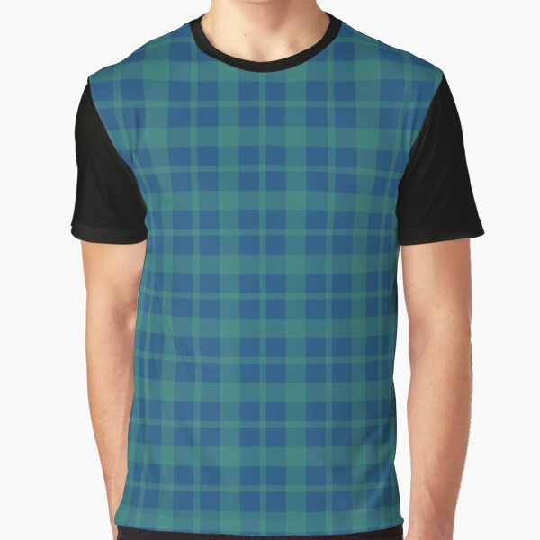 Blue green plaid  Graphic T-Shirt