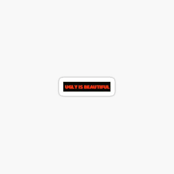 Oliver Baum hässlich ist schönes Logo Sticker