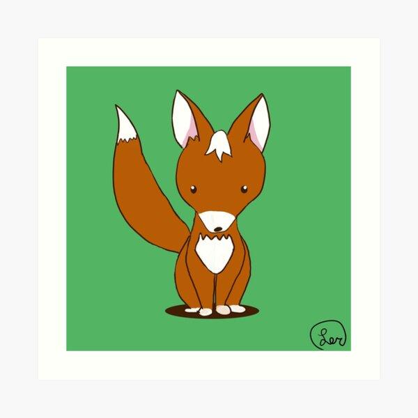 fox kit Art Print