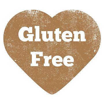 Gluten Free Heart - Distressed by GlutenFreeGear