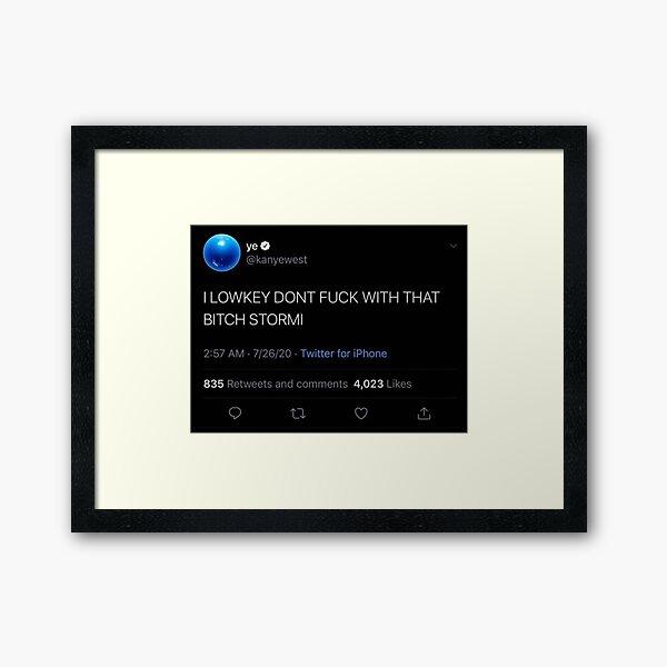 Kanye Tweet Framed Art Print
