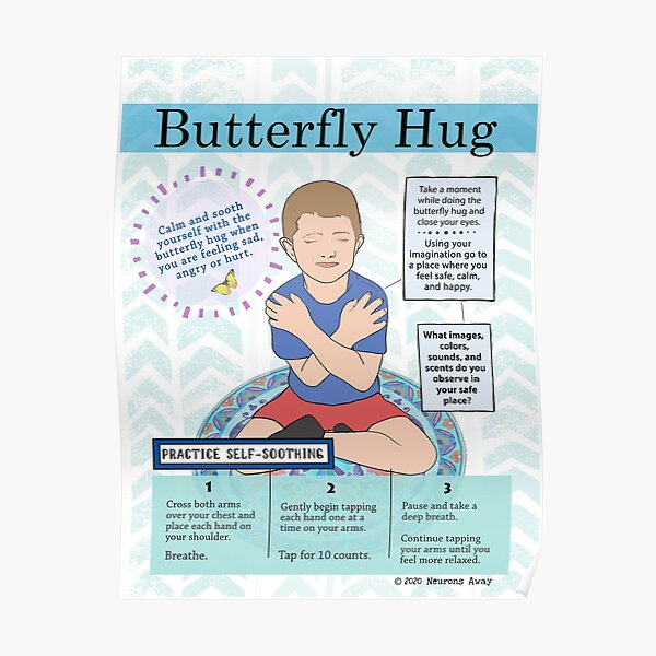 Butterfly Hug Poster- Coping skills  Poster