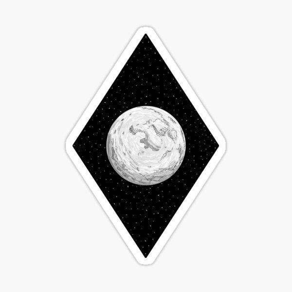 Moon + Space Sticker