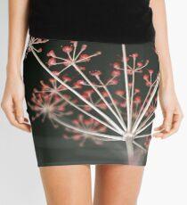 Red Fireworks. Botanical Abstract. Dark Floral Mini Skirt