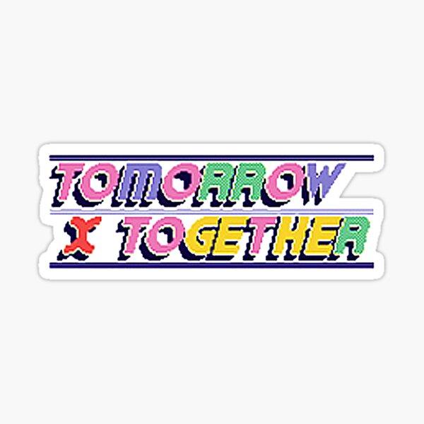 Logotipo de la hora azul TOMORROW X TOGETHER Pegatina