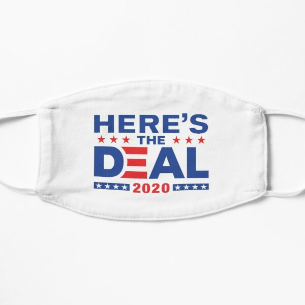 Here's The Deal Biden Trump Debate Mix WTFBrahh Flat Mask