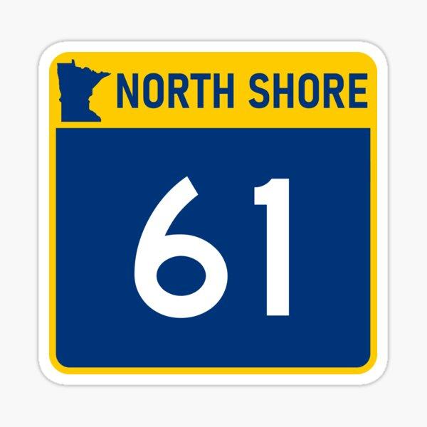 Minnesota North Shore Highway 61 Design Sticker