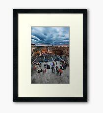 Piazza Di Spagna Sunset Framed Print