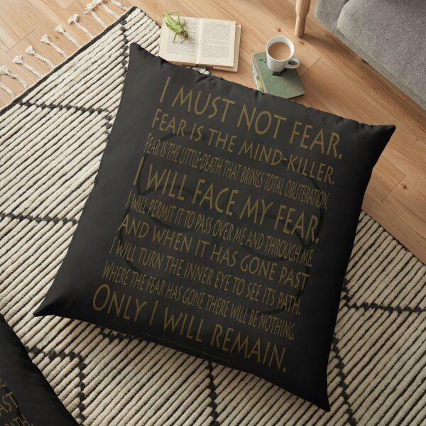Litany I Must Not Fear and Bene Gesserit Symbol Art Design Gradient - Dune (2020 film) Floor Pillow