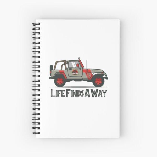 Jurassic Park - Life Finds A Way Spiral Notebook