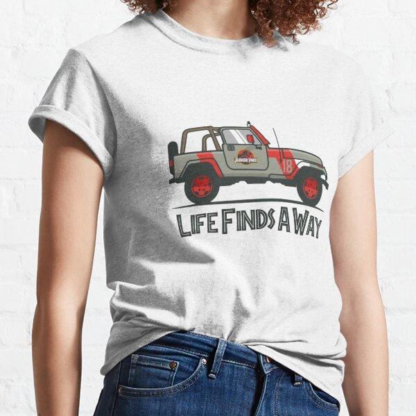 Jurassic Park - Life Finds A Way Classic T-Shirt