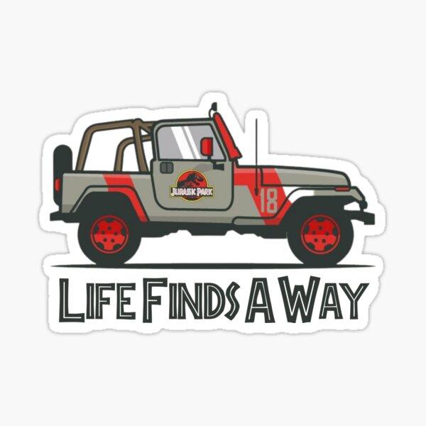 Jurassic Park - Life Finds A Way Sticker