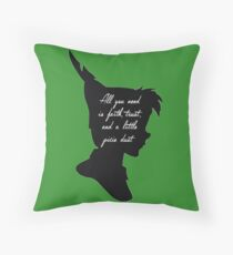 Faith, Trust, and Pixie Dust Throw Pillow