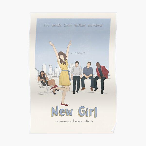 New Girl Minimalist Illustration Poster