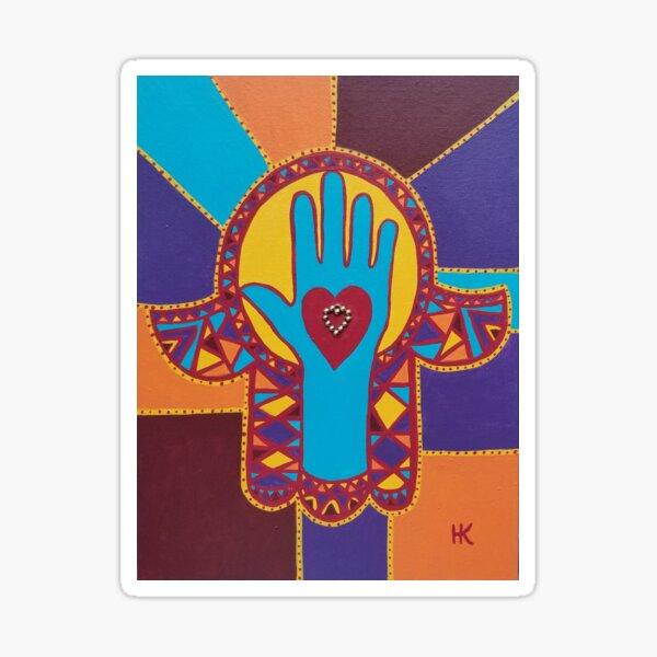 Healing Hand Hamsa by Harriette Knight Sticker