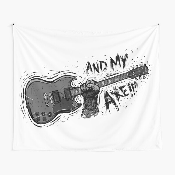 And My Axe!!! - SG - Guitar Nerd Tapestry