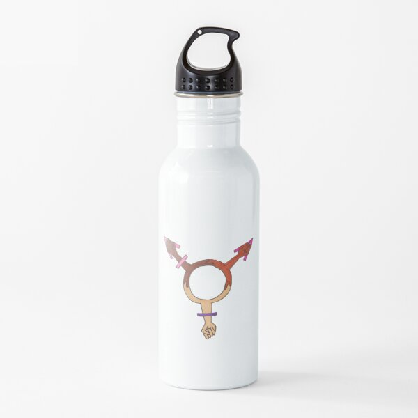 Female Power Multicultural Sign  Water Bottle