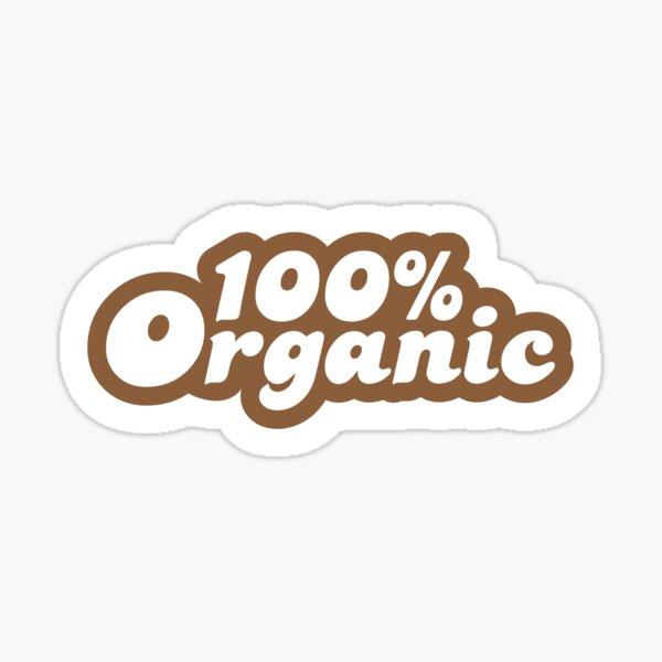 100% Organic Sticker