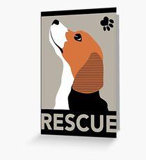 Rescue (Beagle) Greeting Card