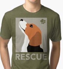 Rescue (Beagle) Tri-blend T-Shirt