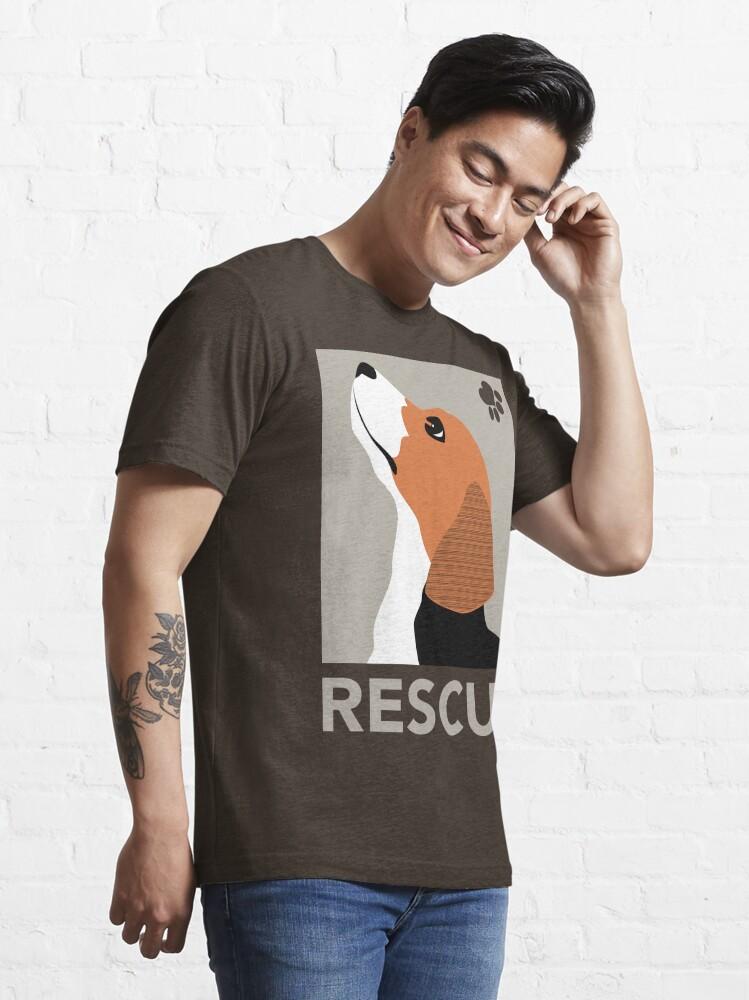 Alternate view of Rescue (Beagle) Essential T-Shirt