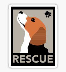 Rescue (Beagle) Sticker