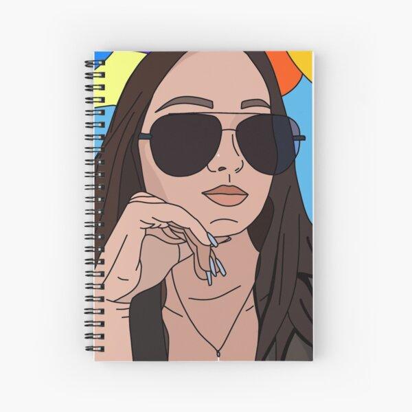 Sunglass Girl Spiral Notebook