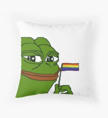 Pepe Pride Throw Pillow