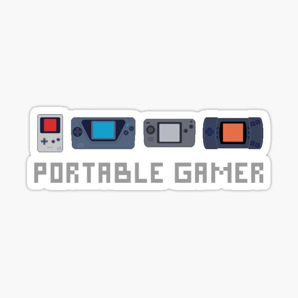 Pixel Art Portable Gamer Sticker